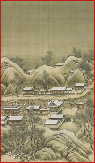 Yuanmingyuan snow